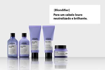 A gama para cabelos louros, com madeixas, descoloração ou coloração loura