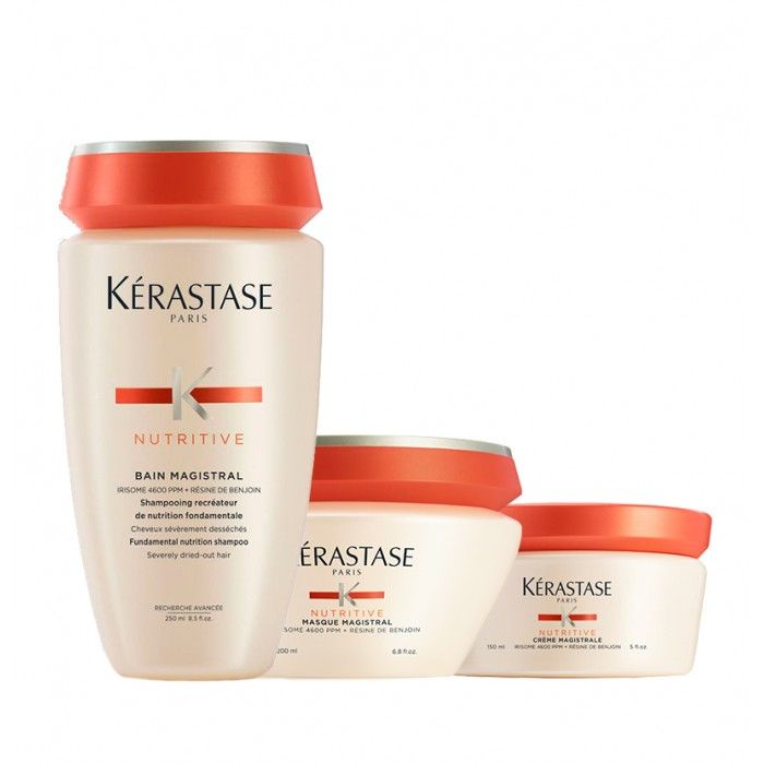 Pack 3 Nutritive Magistral cabelo grosso extremamente seco