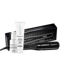 Edição limitada: Steampod 3.0 Karl Lagerfeld + Bolsa de pele cabelos grossos