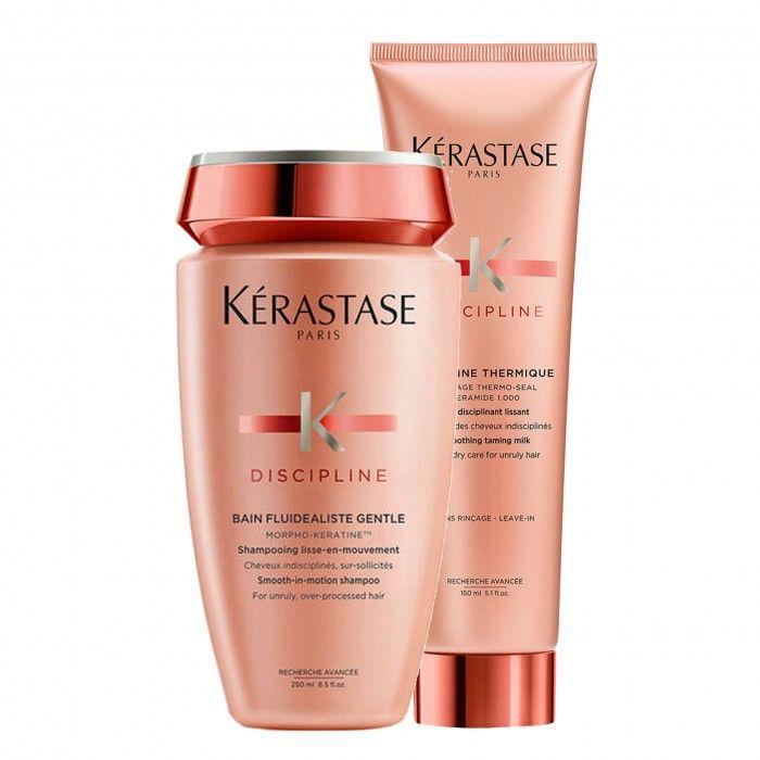 Pack Discipline shampoo e protetor térmico