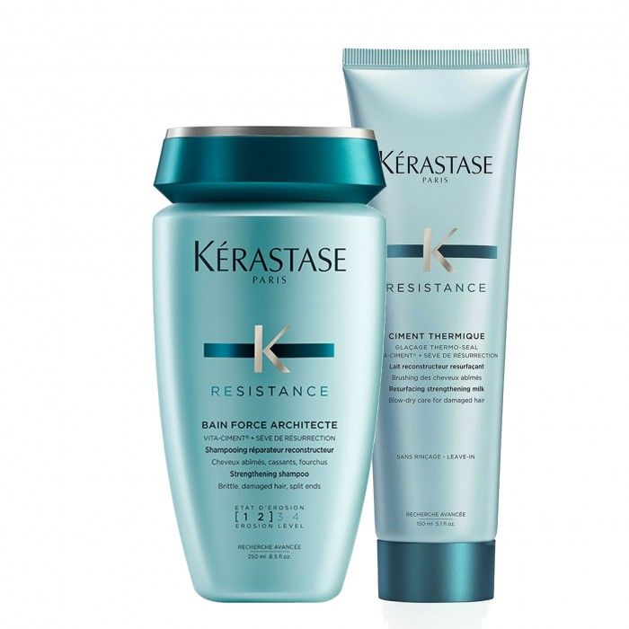 Pack Resistance Force shampoo e protetor térmico