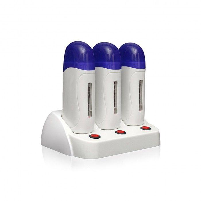 Base Com Três Depiladoras Rickiparodi Prowax 3 Com Termostato